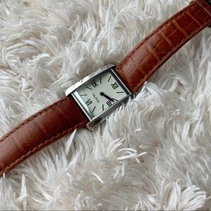 Brown and Silver Nautica Watch